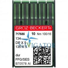 Промышленные швейные иглы 134, DPx5 № 100 SES упаковка 10 шт