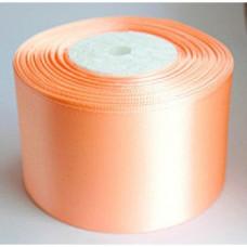 Атласная лента цвет светло-персиковый, 50 мм