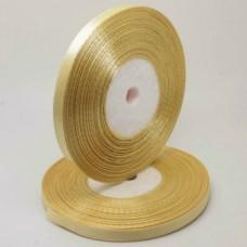 Атласная лента цвет золотисто-бежевый, 6 мм