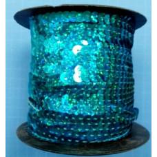 Пайетки на нитке в бобинах голографические, цвет бирюзовый
