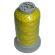 Нить светящаяся для вышивки GE-06, цвет желтый