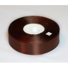 Атласная лента цвет коричневый, 25 мм