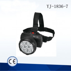Фонарь налобный YJ-1836-7 светодиодный аккумуляторный