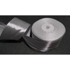 Атласная лента цвет светло-серый, 50 мм