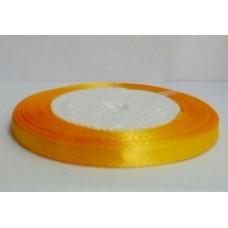 Атласная лента цвет бледно-оранжевый, 6 мм