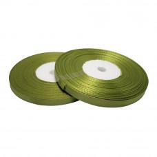 Атласная лента цвет оливковый, 6 мм