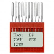 Бытовые швейные иглы Dotec HAx1, BP SES 705H 12/80 10 шт.