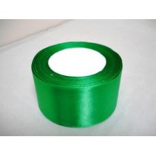 Атласная лента цвет зеленый, 50 мм