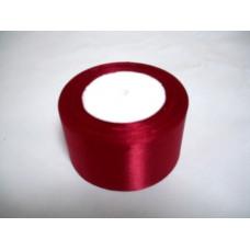 Атласная лента цвет бордовый, 50 мм