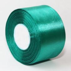 Атласная лента цвет изумрудный, 50 мм