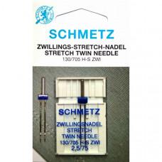 Игла двойная для трикотажа Schmetz Twin Stretch № 75/2,5