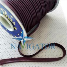 Кант атласный цвет тёмно-бордовый, 10 мм