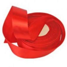 Атласная лента цвет красный, 25 мм