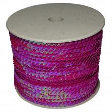 Пайетки на нитке в бобинах перламутровые, цвет малиновый