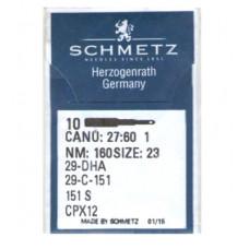 Швейные иглы Canu:27:60 1 NM: 160 размер 23 SCHMETZ