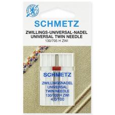 Двойная универсальная игла Schmetz Twin Universal № 100/4,0