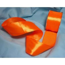 Атласная лента цвет оранжевый, 50 мм