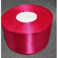 Атласная лента цвет малиновый, 50 мм