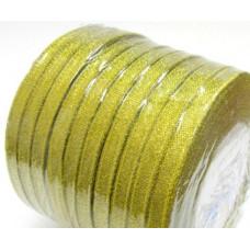 Лента из парчи цвет золотой, 6 мм