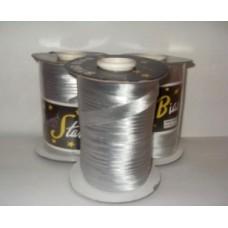 Косая бейка парча, цвет серебро 1 м