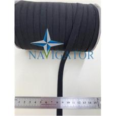 Резинка эластичная черная 10 мм на бобине