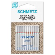 Иглы для трикотажа Schmetz Jersey 130/705 H SUK № 70-90 (10 шт)