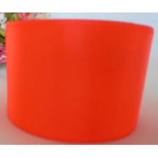 Атласная лента цвет коралловый неон, 50 мм