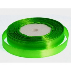 Атласная лента цвет ярко-зеленый, 10 мм