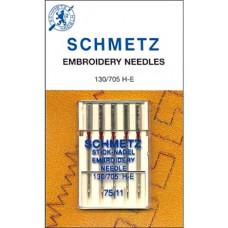 Иглы вышивальные Schmetz Embroidery № 75