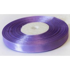 Атласная лента цвет сиреневый, 10 мм