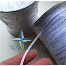 Резинка эластичная белая 3 мм на бобине