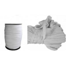 Резинка эластичная белая 5 мм на бобине