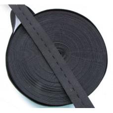 Резинка эластичная перфорированная черная 2 см