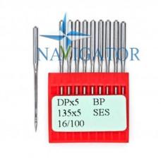 Промышленные швейные иглы Dotec DPx5, BP, 135x5 SES, 16/100 для прямострочных машин, легкие и средние ткани