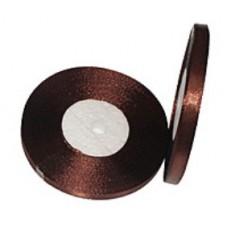 Атласная лента цвет коричневый, 6 мм