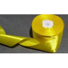 Атласная лента цвет желтый, 50 мм
