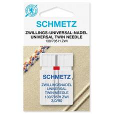 Двойная универсальная игла Schmetz Twin Universal № 90/3