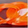 Атласная лента цвет оранжевый, 6 мм