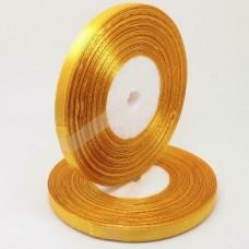 Атласная лента цвет золотисто-желтый, 6 мм