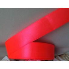Атласная лента цвет коралловый неон 25 мм