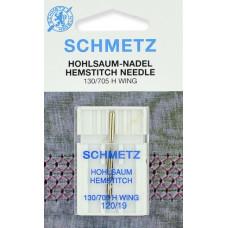 Игла для мережки Schmetz Hohlsaum Hemstitch 130/705 H Wing № 120/19