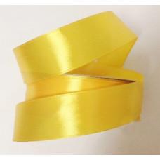 Атласная лента цвет бледно-желтый, 25 мм