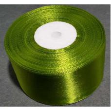 Атласная лента цвет оливковый, 50 мм