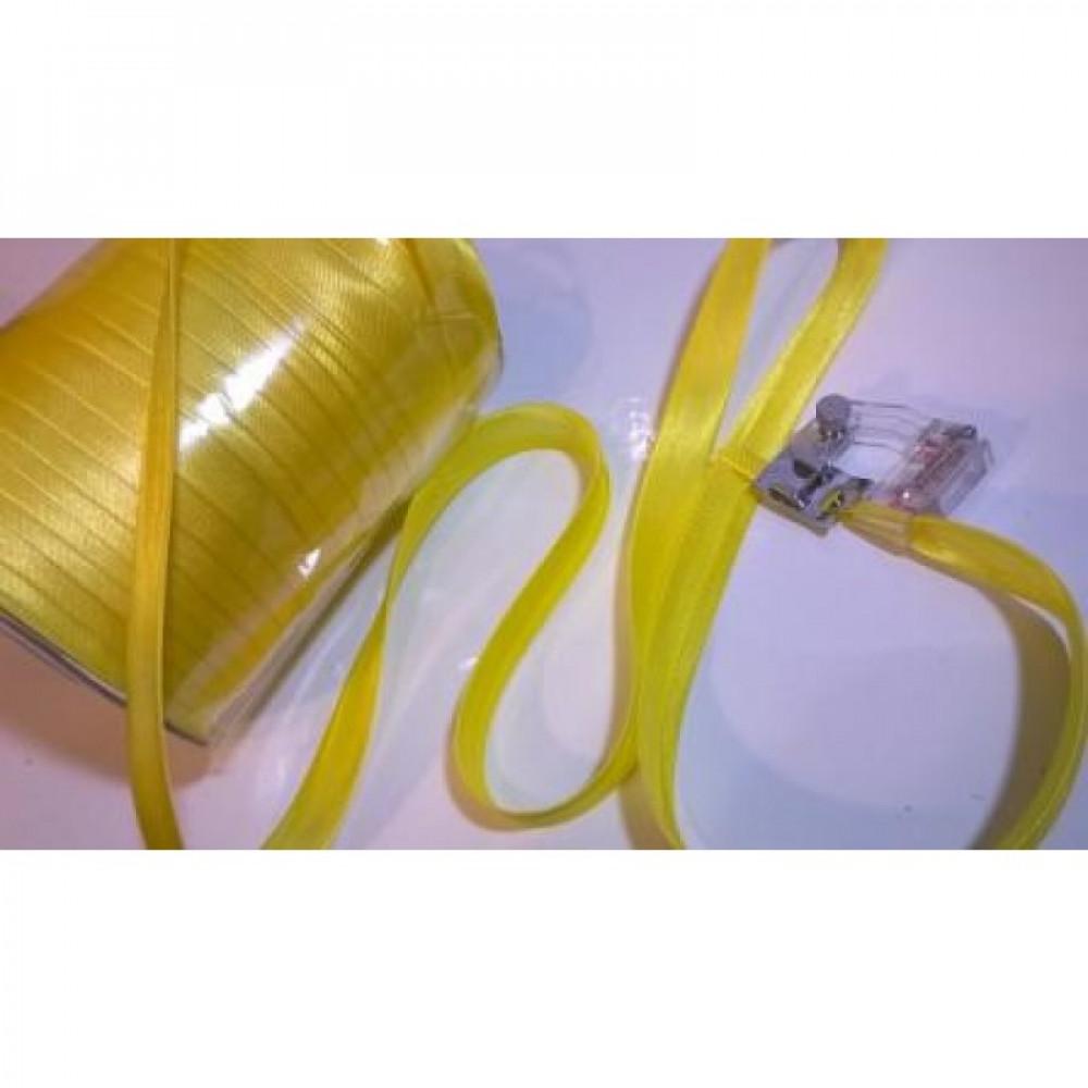 Косая бейка желтый шартрез № 17