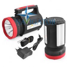 Фонарь переносной аккумуляторный Yajia YJ-2886 5W+22SMD Power Bank