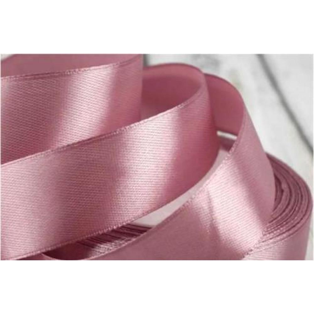 Атласная лента цвет пыльная роза (серовато-розовый), 25 мм