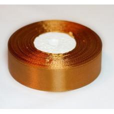 """Атласная лента цвет """"Перу"""" (золотисто-коричневый), 25 мм"""