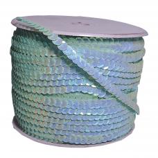 Пайетки на нитке в бобинах перламутровые, цвет светло-бирюзовый