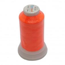 Нить для вышивки PE-199, цвет оранжевый неон