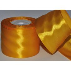 Атласная лента цвет золотисто-желтый, 50 мм